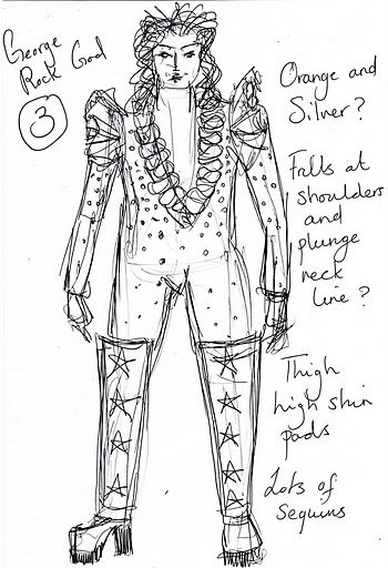Design for Le Gateau Chocolat, La Soiree, Christmas at the Roundhouse.