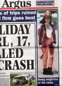Our Racecourse costumes make front page!